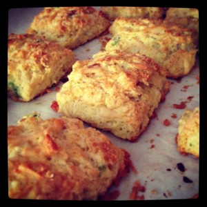 Bacon Asiago Scallion Scones