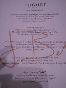 Tasting menu, August, New Orleans