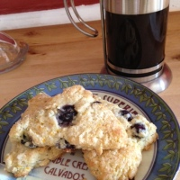 Quick blueberry scones for two