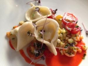 crab & corn tortellini