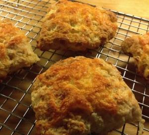 cheddar apple scones