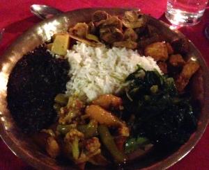 Nepali set meal