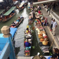 Damnoen Saduak and the Maeklong Train Market